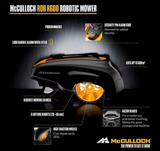 Características McCulloch ROB 600